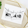 Hanging Polaroids Greeting Card