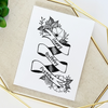 Customizable Flower Banner Greeting Card (Colour)