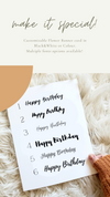 Customizable Flower Banner Greeting Card (Black & White)