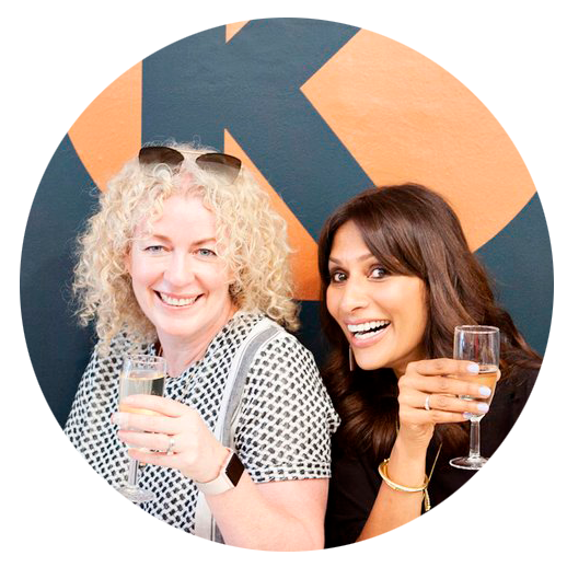 Julie and Shilpa, kjole's lovely founders!