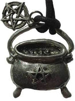 Cauldron with Pentacle amulet