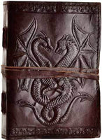 Double Dragon leather blank book w/ cord