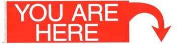 You Are Here bumper sticker