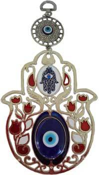 "Fatima Flower Evil Eye wall hanging ""New Design"""