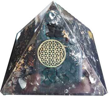 70mm Orgone Shungite & Flower pyramid