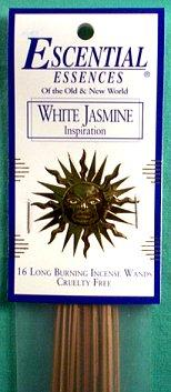 White Jasmine escential essences incense sticks 16 pack