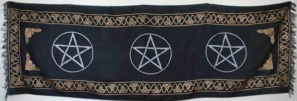 "Three Pentagram altar cloth 21"" x 72"""