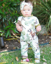 Load image into Gallery viewer, Deer Fall Romper + Headband Set