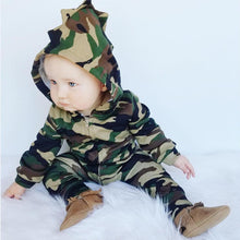 Load image into Gallery viewer, Justin Camouflage Dragon Romper