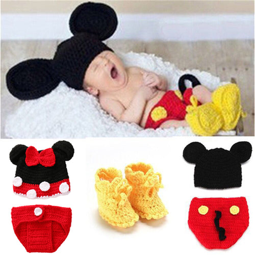 Knitted Minie & Mickey Mouse Costume