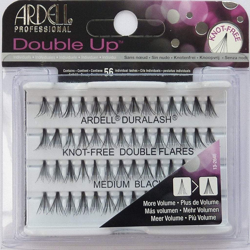 Ardell Duralash Knot Free Double Flares Medium Black Diroestetica