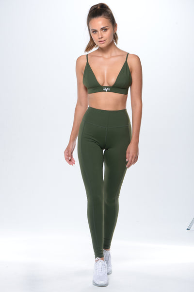 'Simplicity' Workout Leggings- Green - ignite-merch