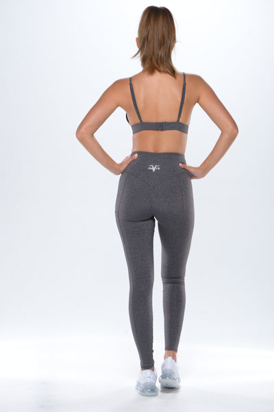 'Simplicity' Workout Leggings- Charcoal