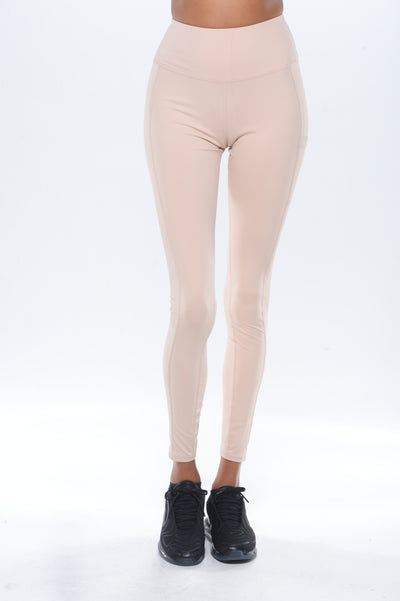 'Simplicity' Workout Leggings- Blush Pink - ignite-merch