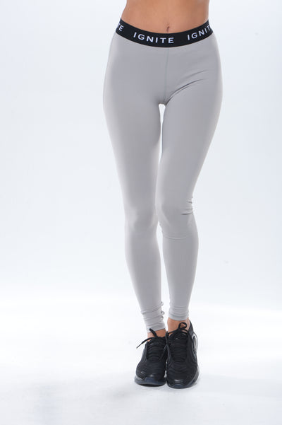 """IGNITE"" Banded Leggings - Grey"