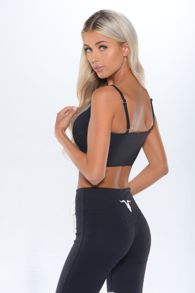 Bandeau Sports Bra - Black