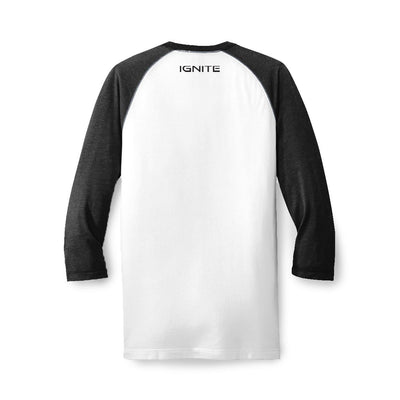 Raglan Baseball Tee - Black - ignite-merch