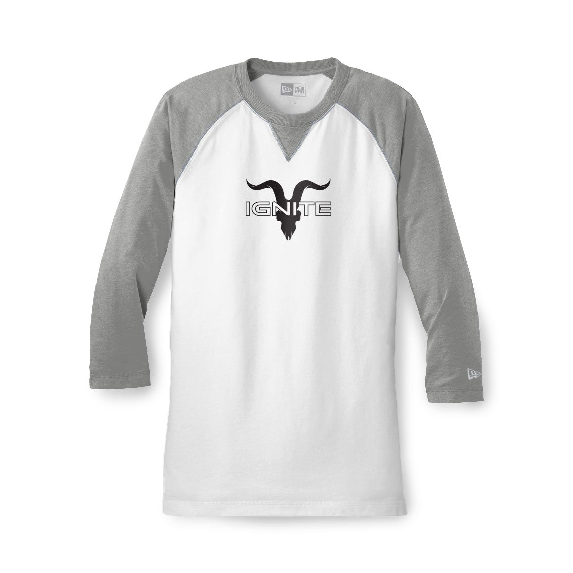 Raglan Baseball Tee - Grey
