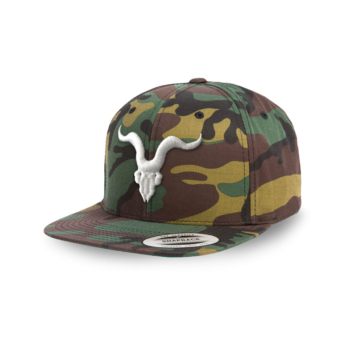 Ignite Premium Collection Camo Goat Skull Snapback Hat