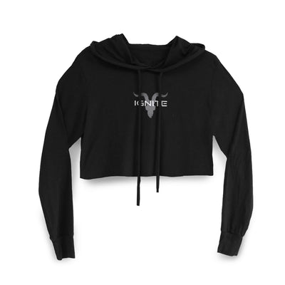 Ignite Premium Collection Ladies Black Cropped Hoodie - ignite-merch