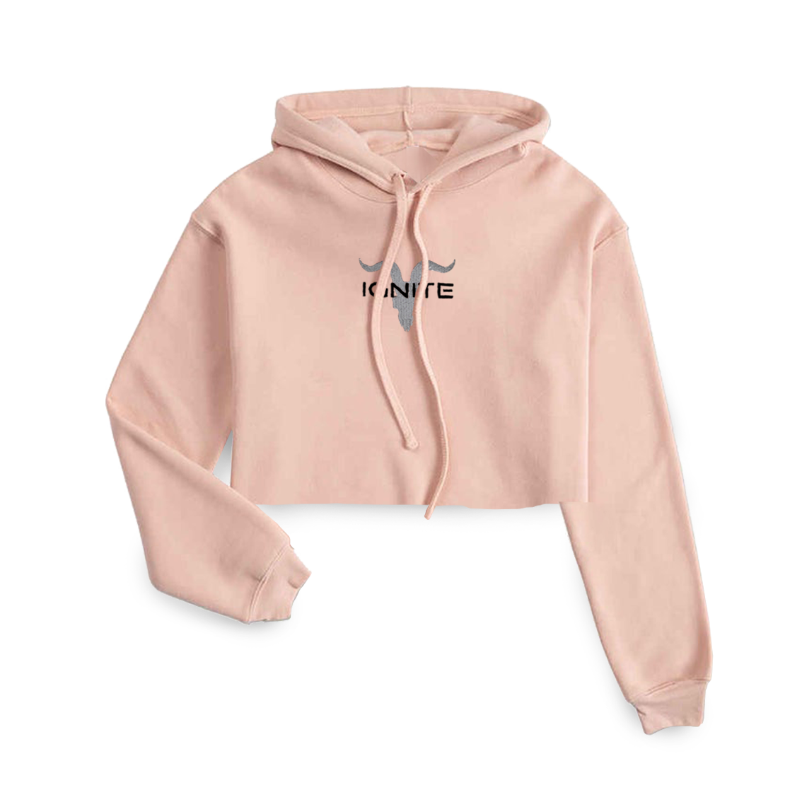 Ladies Peach Cropped Hoodie - ignite-merch