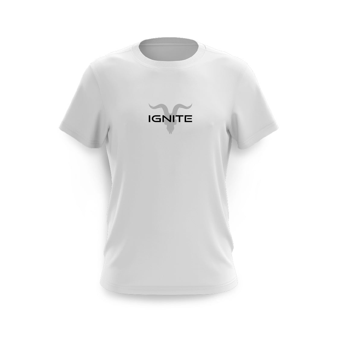 Ignite Premium Collection Men's White & Grey Logo Tee - ignite-merch