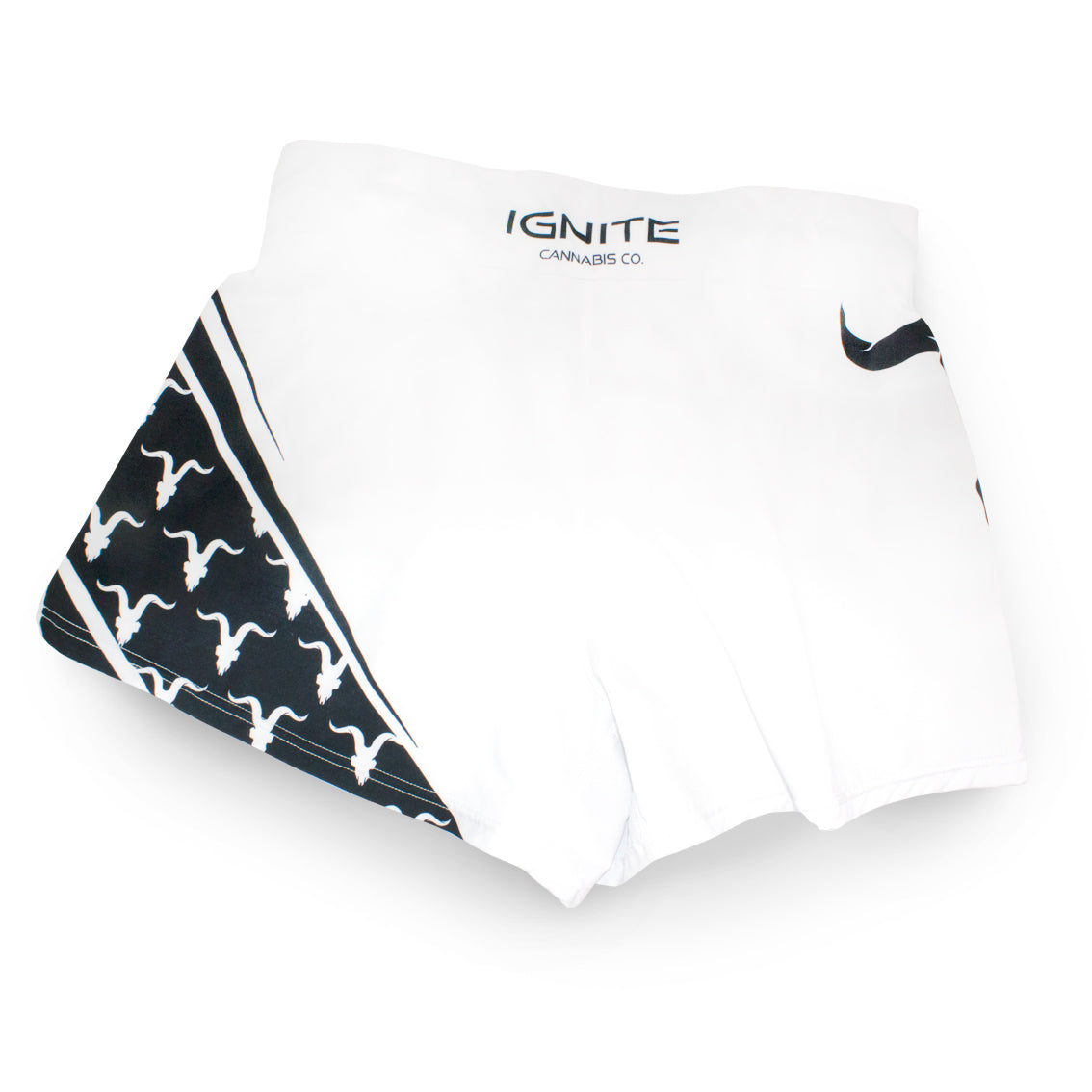 Ignite Premium Collection White Performance Workout Shorts - ignite-merch