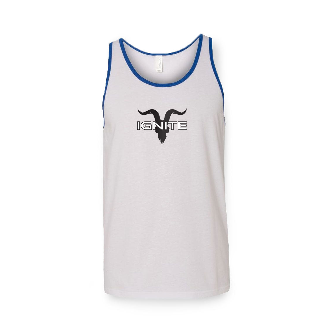 Ignite Premium Collection Jersey Sleeveless Shirt - White with Blue Lining