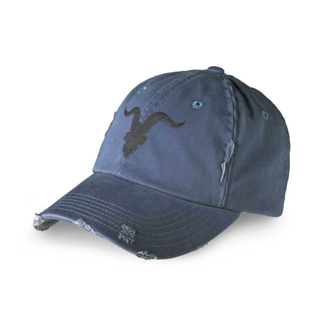 Ignite Premium Collection Distressed Dad Hat - Denim Blue