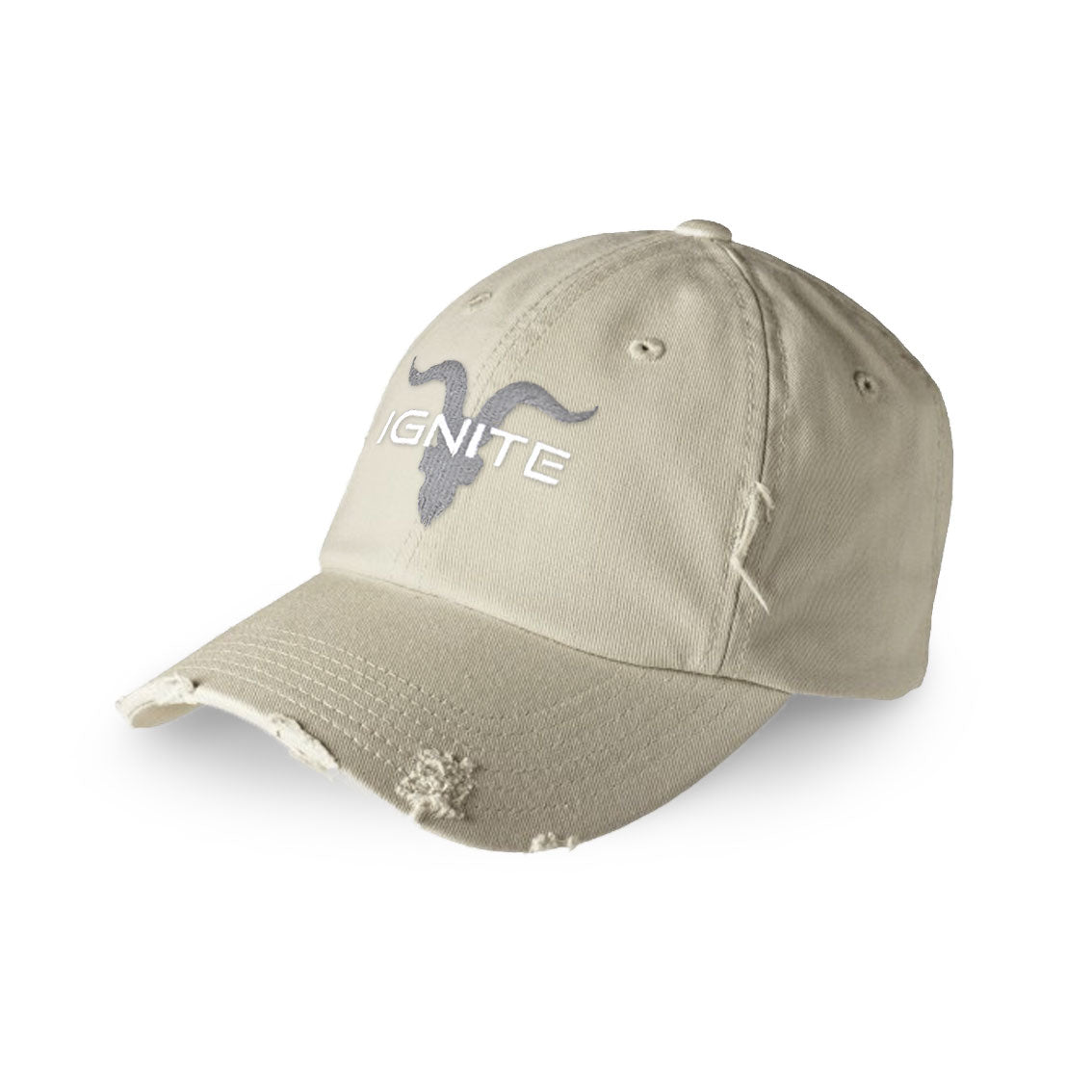 Ignite Premium Collection Distressed Dad Hat - Khaki