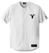 Goat Skull Pocket Baseball Jersey - White