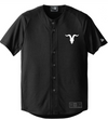 Goat Skull Pocket Baseball Jersey- Black - ignite-merch