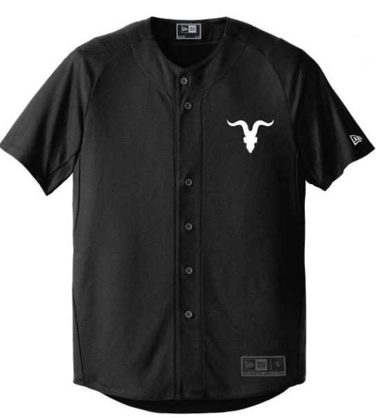 Goat Skull Pocket Baseball Jersey- Black