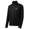 Mock Zip Up with Goat Skull Logo - Black - ignite-merch