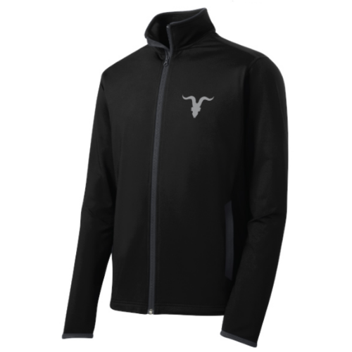 Ignite Premium Collection Mock Zip Up with Goat Skull Logo - Black
