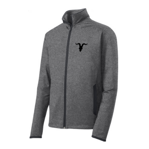 Ignite Premium Collection Mock Zip Up with Goat Skull Logo - Grey