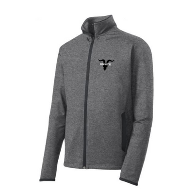 Mock Zip Up with Ignite Logo - Grey