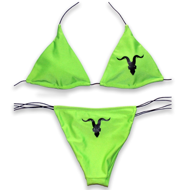 Ignite Premium Classic Neon Green String Bikini - ignite-merch
