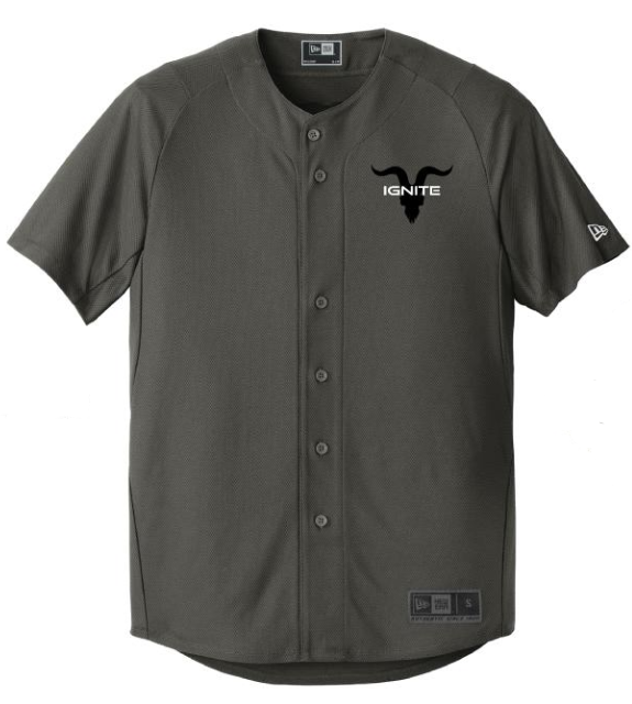 Goat Skull Pocket Baseball Jersey - Graphite with Black Logo