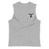 Grey Muscle Shirt With Black Logo - ignite-merch