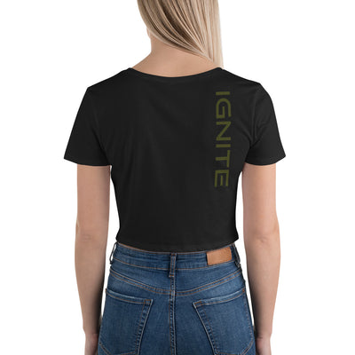 Classic Logo Crop Tee (2 Tone) - ignite-merch