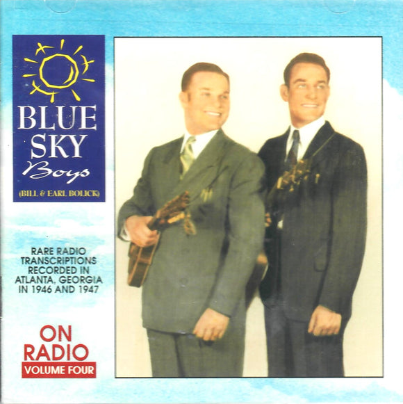 BLUE SKY BOYS 'On The Radio Vol. 4'  CCCD-0146