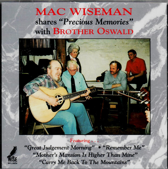 MAC WISEMAN 'SHARES PRECIOUS MEMORIES WITH BROTHER OSWALD' MAC-108