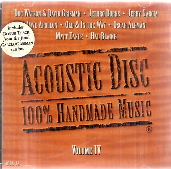 AUCOUTSIC DISC: 100% HANDMADE MUSIC VOL. 4' ACD-32