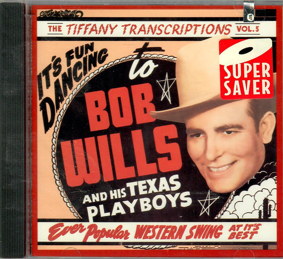 BOB WILLIS AND HIS TEXAS PLAYBOYS 'THE TIFFANY TRANSCRIPTIONS VOL. 5' RHINO-71473