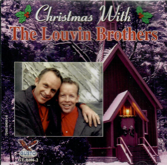 LOUVIN BROTHERS 'Christmas With' GUSTO-106-CD