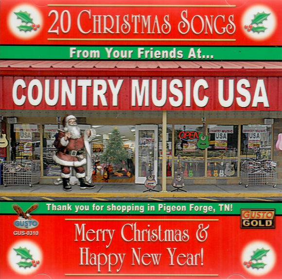 20 CHRISTMAS SONGS 'Country Music USA' GUSTO-0310-CD