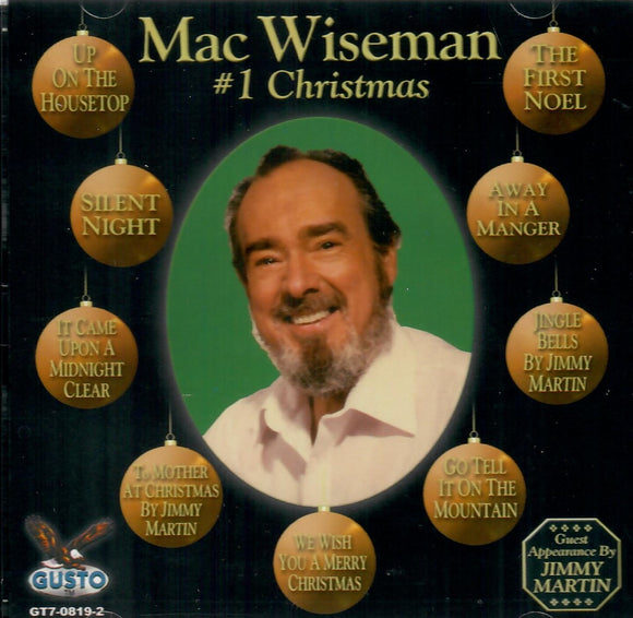 MAC WISEMAN '#1 Christmas' GUSTO-0819-CD