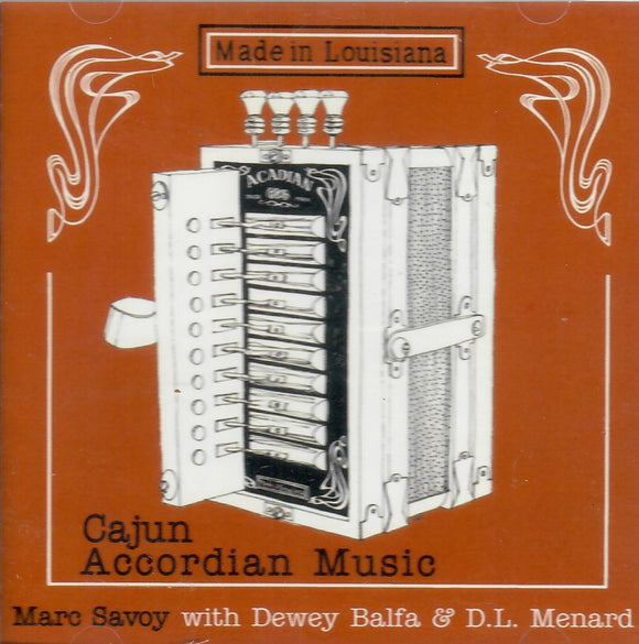 MARC SAVOY 'Cajun Accordian Music' VOY-325-CD