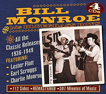 BILL MONROE AND HIS BLUE GRASS BOYS 'All the Classic Releases 1936 -1949'4 CD set JSP-7712-4CD